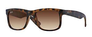 Ray-Ban Sunglasses Justin 4165 710/13 Rubber Light Havana Brown Gradient 51mm