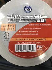 Ipg Ul181 Aluminum Foil Tape 25 X 60 Yd Single Roll