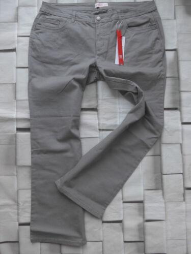 48 Kurz Gr 24 grau Ton Sheego Jeans Damen Hose Gr NEU 844