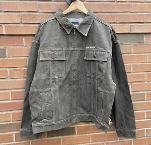 Vintage-90-s-Boss-Embroidered-Denim-Full-Zip-Jacket-Size-Large