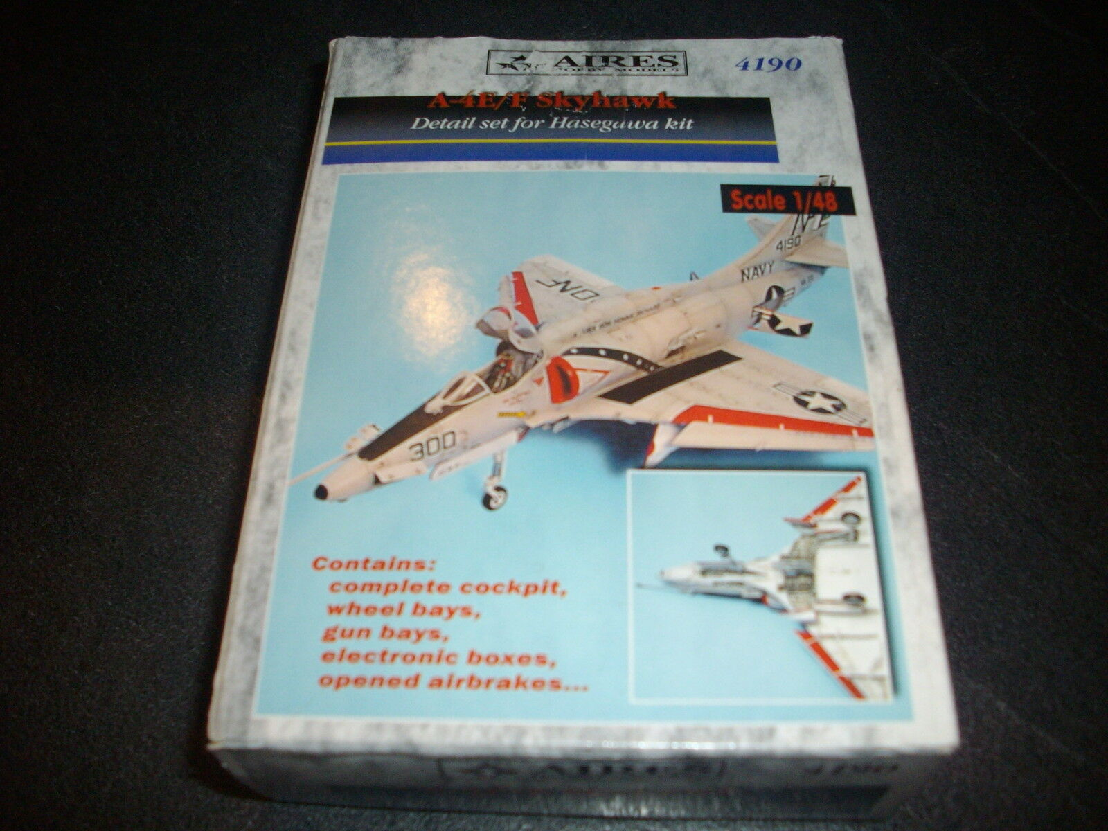 AIRES  A-4E F SKYHAWK  DETAIL SET FOR HASEGAWA RESINE MODEL 1 48
