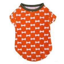 Small Pet Dog Cat Puppy Clothes Vest T Shirt Apparel Cotton Costume Orange Bones