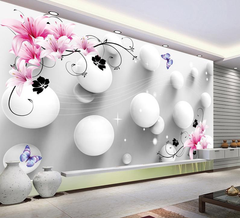 3D Lily Laces Balls 85 Wall Paper Murals Wall Print Wall Wallpaper Mural AU Kyra