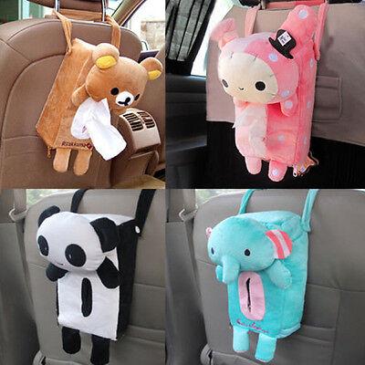 Popular Cute Cartoon Car Accessories Seat Cover Holder Paper Box Tissue Box