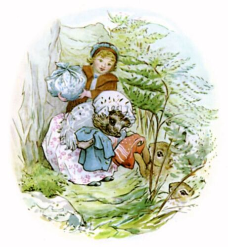 Tiggywinkle Beatrix Potter cross stitch chart anche disponibile come A4 stampa lucida