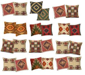Set-2-PC-45x45-CM-Handwoven-Cushion-Cover-Kilim-Wool-Jute-Pillowcase-Sofa-Throw