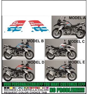 BLACK Kit adesivi laterali COMPATIBILI CON BMW R 1200 GS 2013-2016 AD-R1200GS-STD-001