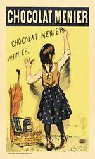 "VINTAGE CHOCOLAT (CHOCOLATE) MENIER ADVERTISEMENT POSTER - SIZE 22"" X 28"" -  NEW"