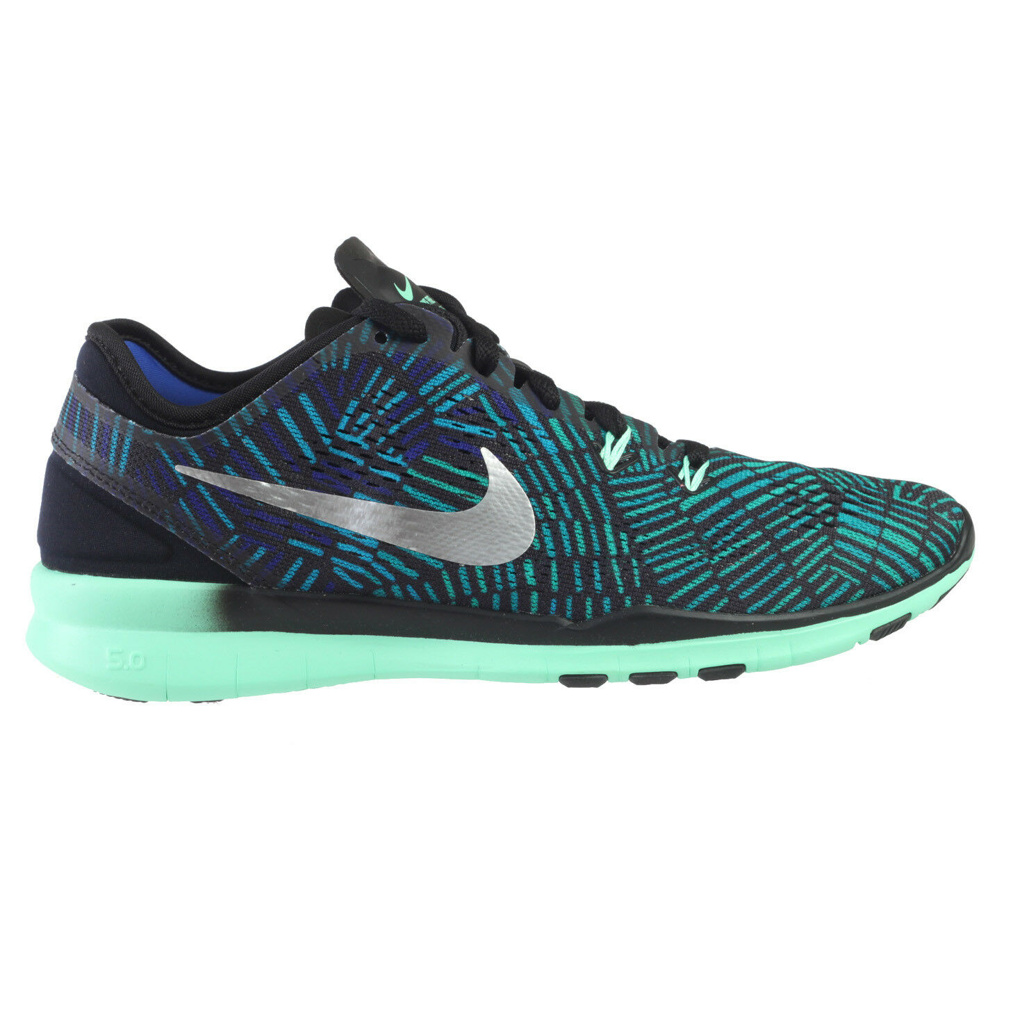 Nike Free 5.0 TR Fit 5 Prt Womens 704695-016 Green Glow Training Shoes Size 10
