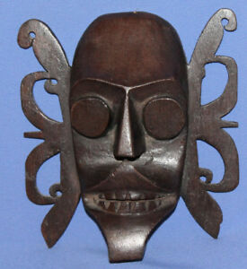 Vintage-Burma-Tribal-Hand-Carved-Wood-Wall-Decor-Mask