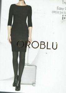 Girocollo Easy Xs 36 3 34 Sleeve Travel Nero 4 Oroblu Traspirante Care Dress Z6CqH