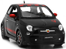 BbURAGO 1:18 2008 FIAT 500 ABARTH NEW DIECAST MODEL CAR BLACK / RED