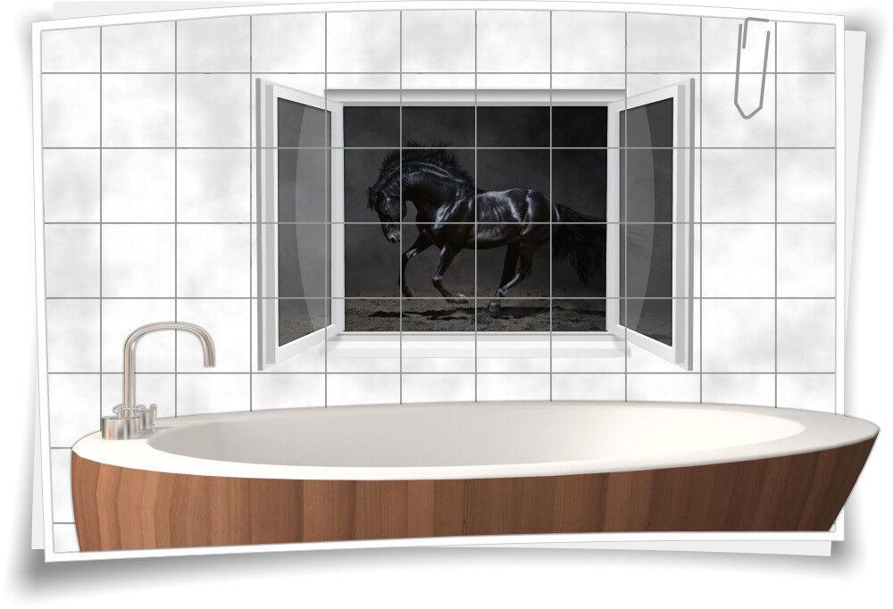 Fliesenaufkleber Fliesenbild Fliesen Aufkleber Pferd Hengst Reiten Bad WC Deko