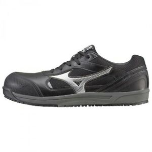 Mizuno-Protective-Working-Sneakers-ALMYGHTY-String-type-C1GA1600-Black-Silver