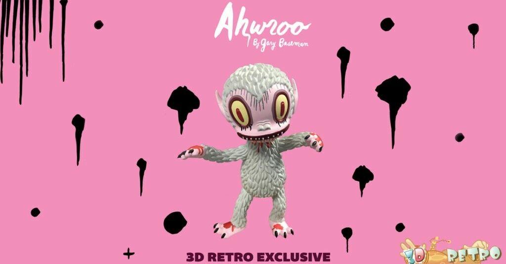 GARY BASEMAN 'ahwroo  Albino Edition LE150 7  vinyle Sculpture 3 dretro