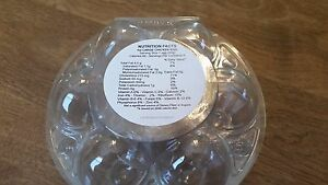 """60 Round Large Chicken Egg Nutrition Facts Egg Carton Stickers. 2.5"""" round"""