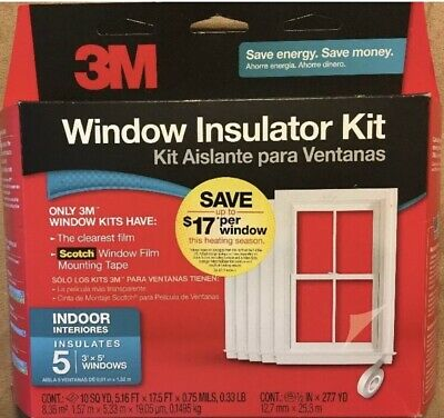 3M Indoor Window Insulator Kit for 5 Windows