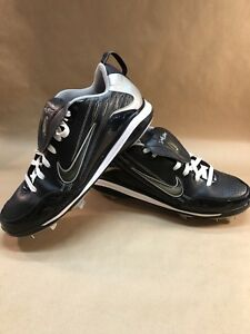 Elite Details Men's about 13 Black Cleats Nike Size Air Baseball Owned Metal Pre Shoe Show Med Nwn0vm8