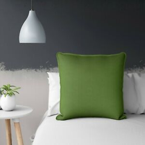 Details about Olive Green Cushion Cover With Piping Throw Pillow Case 24x24