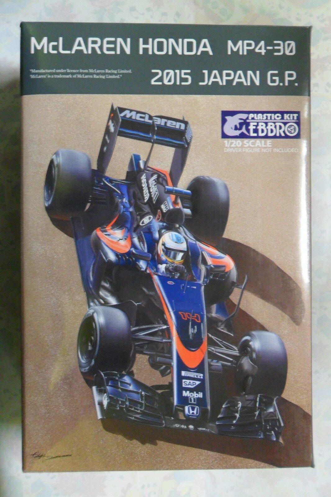 EBBRO 1 20 KIT IN PLASTICA MCLAREN HONDA MP4-30 2015 2015 2015 JAPAN GP ART 015 4800 e4c8a0