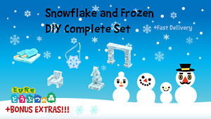 COMPLETE-Snowflake-and-Frozen-and-Snowboy-DIY-Set-Animal-Crossings-New-Horizons