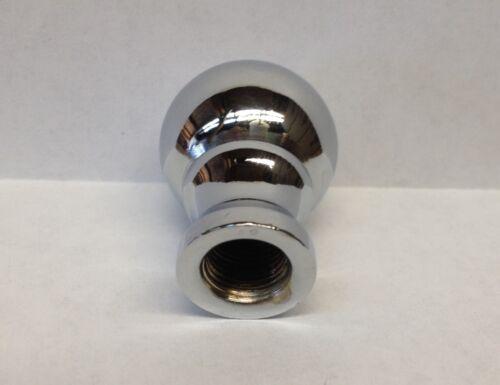 Machined Metal Lamp Finial **BALL DESIGN** Chrome finish Lamp Finial