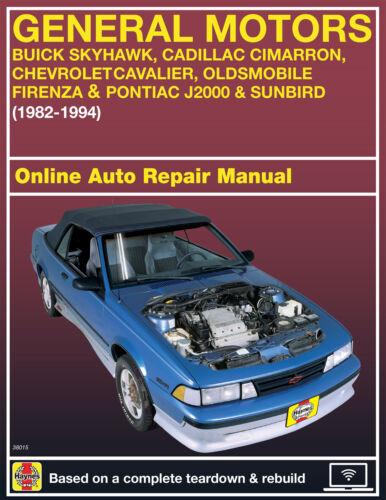 Car & Truck Repair Manuals & Literature 1991 Chevrolet Cavalier ...