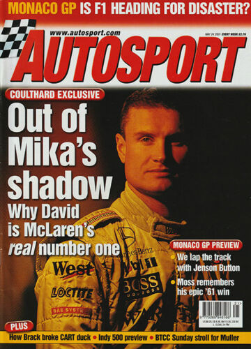 Autosport 24 May 2001 David Coulthard, Monaco GP Jenson Button, Oulton BTCC