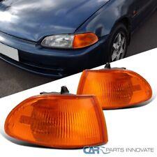 FOR 92-95 HONDA CIVIC COUPE//HATCHBACK EG9 VISION AMBER CORNER SIGNAL LIGHTS LAMP
