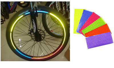 Fluorescent MTB Bike Bicycle Sticker Cycling Wheel Rim Reflective Stickers Decal