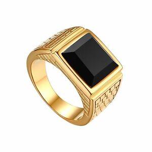 Black Onyx Ring Size 7 12