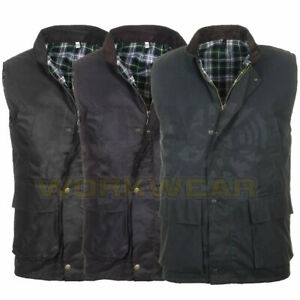 Mens British Made Wax Quilted Gilet Bodywarmer Country