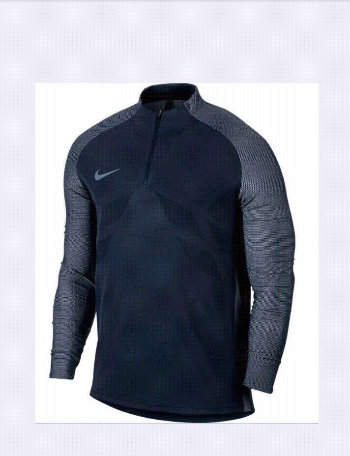 NIKE Strike Aeroswift 1 4 Zip bluee Long Sleeve Soccer Football Shirt NEW Mens XL
