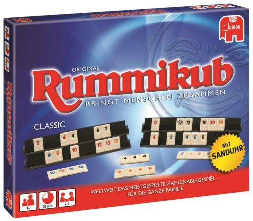 Jumbo Rummikub Classic Joker Aufstellbretter Sanduhr Spielregeln Kinderspiel