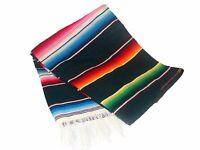 203 One Sarape Blanket Wholesale 58x80 Reversible Mexico Throw Party Bright