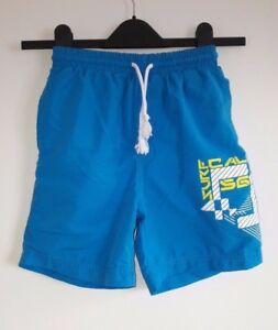 4b5a644e3679 2 Pairs Mesh Lined Swim Shorts Blue & Grey from Matalan - Age 8-9yrs ...