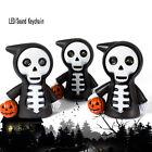 New Skull LED Lamp Light Flashlight Scary Sound Keyring Halloween Party Favor
