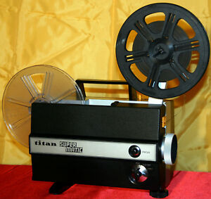 SUPER-8mm-SILENT-MOVIE-PROJECTOR-TITAN-SUPERMATIC-FULLY-SERVICED-EXCELLENT-A1