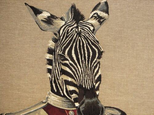"""5320 Nouveau 18/"""" aristofari Zebra Belge Tapisserie Housse de Coussin avec fermeture à glissière"""