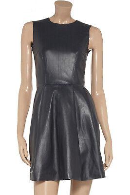 Iris & Ink Etui Kleid Leder Lederkleid Grau Blau 34 XS ...