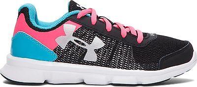 Under Armour Girls MicroG® Speed Swift Running Shoes UK 13.5 Pink//Grey 1266305