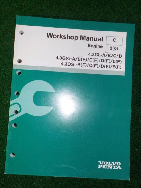 2004 Volvo Penta Engine Service Repair Shop Manual 4 3
