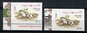 Bien éDuqué Kirghizstan Kyrgyzstan 2012 Cheval Cavalier Horse Gezähnt + Ungezähnt ** Neuf Sans Charnière-afficher Le Titre D'origine