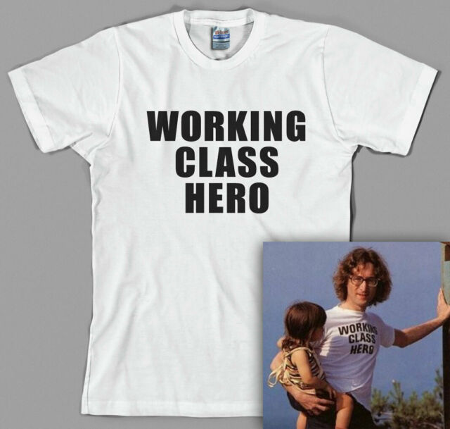 As Worn By J.Lennon All Sizes//Various Colours Working Class Hero T-shirt