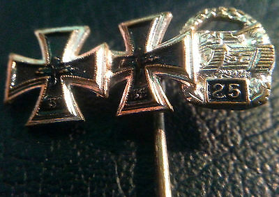 ✚6373✚ German post WW2 1957 pattern Iron Cross Panzer Badge miniature stickpin