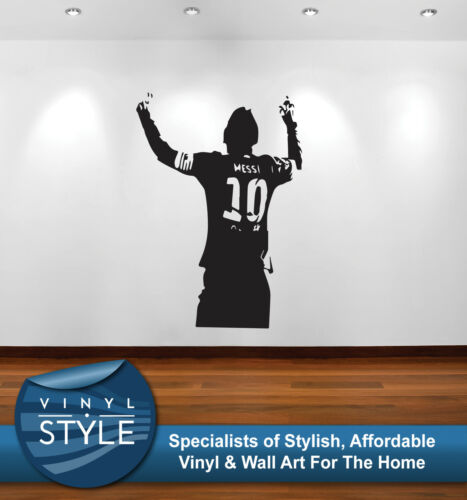 MESSI 002 BARCELONA FC DECAL STICKER WALL ART GRAPHIC VARIOUS COLOUR