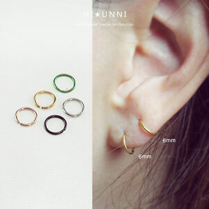 Image Is Loading 20g Tiny Hoop Earrings Tragus Cartilage