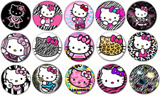 "HELLO KITTY #2 - Lot of 15 Pin Back 1"" Buttons BADGES (One Inch)  Set 2"