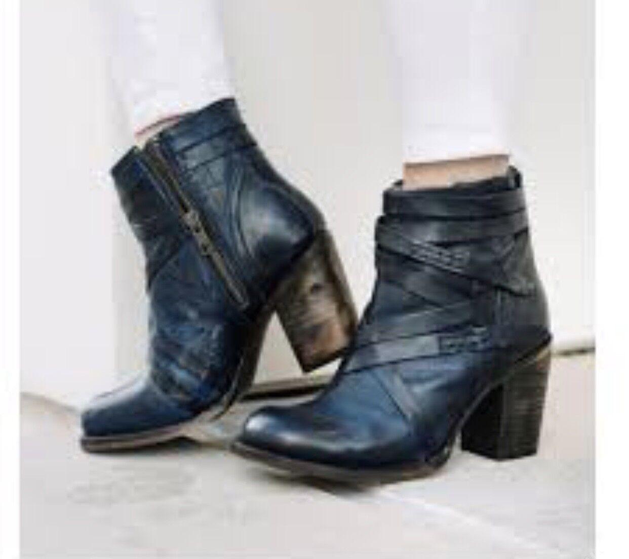 Nuevo En Caja   295 Freebird por Steven 'joya' 'joya' 'joya' con tiras de cuero botas al tobillo azul 6  tiempo libre