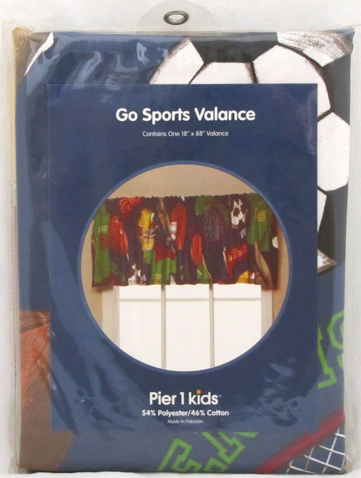 Pier 1 Kids Go Sports Window Valance One 18 X 88 Boy S Bedroom Brand New For Sale Online